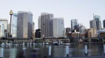 Time Lapse, Cbd Of Sydney With Sydney Tower