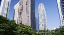 High Rise Buildings Of Shinjuku West With The Mode Gakuen Coccon Tower