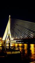 Time Lapse, Rama Viii Bridge Across The Chao Phraya River At Night
