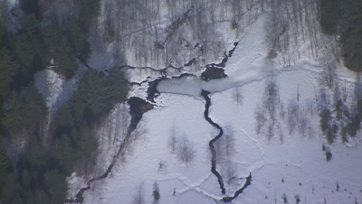Winter Aerial Stock Footage