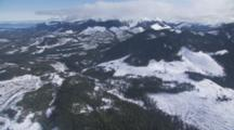 Aerial Cineflex Travel Over Widespread Clearcutting In Coastal Mountains Near Inside Passage