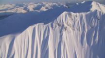 Aerial Cineflex Wrangell St. Elias Mountain Range Beautiful Color