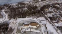 Cineflex Aerial Of Wasilla Alaska In Winter
