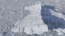 Cineflex Aerials Of Icebergs Ice Chocked Bay Forward Looking Prince William Sound Glacier Melting