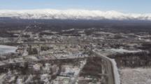 Zatzworks Cineflex Aerial Of Snowy Wasilla Alaska City