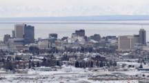 Zatzworks Winter Cineflex Aerial Of Downtown Anchorage Alaska