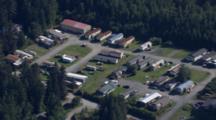Cineflex Aerial Of Trailer Park In Wrangell Alaska In Southeast