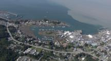 Cineflex Aerial Reveal Of Wrangell Alaska Pull From Mountains To Reveal Town