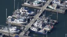 Cineflex Aerial Of Wrangell Alaska Harbor