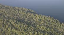 Zatzworks Cineflex Aerials Circling Shot Above Forests Old Growth Rainforest Along Coast Of Southeast Alaska Tongas National Forest