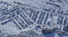 Cineflex Aerial of the town of Churchill, Manitoba City in Canada Polar bear capitol of the world