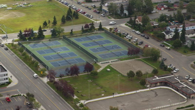 Aerial,Park with Tennis Courts,City of Anchorage,Alaska
