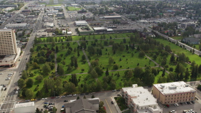 Aerial,Park and City of Anchorage,Alaska