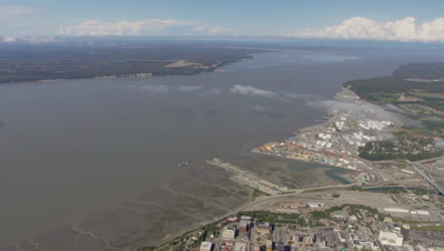 Panoramic Aerial View Of Bay and City of Anchorage,Alaska