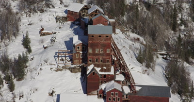 Aerial Over Abandoned Kennecott Copper Mining Camp