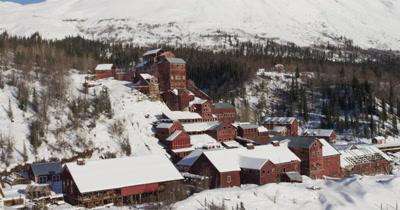4K Aerial Alaska Winter Stock Footage