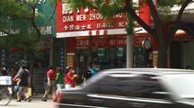 China Pedestrian Traffic In City