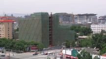 Beijing China Push In To New Building Construction Development Growth