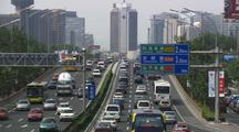 Beijing China Traffic Highway And Growing Congestion Asia Oil Consumption Industrial Development