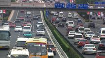 Beijing China Pull Out To Traffic On Highway And Growing Congestion Asia Oil Consumption Industrial Development
