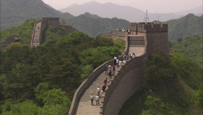 Beijing China Chinese Great Wall Tourists