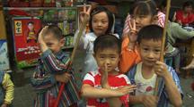 China Chinese Kids Smiling Having Fun Looking At Camera