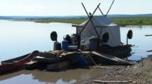 Handmade Houseboat On Yukon River