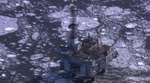 Offshore Oil Drilling Rig In Icy Alaska Water Energy Climate Change Anwr Oil Crisis