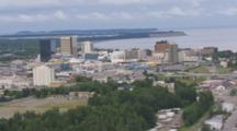 Aerial View City Of Anchorage Alaska