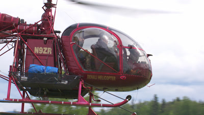 Llama Helicopter Takes Off For High Altitude High Mountain Work