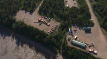 Oil Production Facilities Along Alaska River