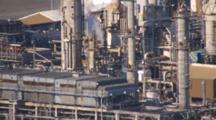 Cineflex Aerial Tight On Oil Production Facilities Cook Inlet Alaska Emissions Smokestack