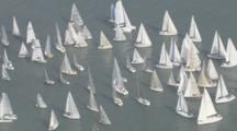 Push To Sailboats At Regatta San Francisco Bay Beautiful Pattern White Sails