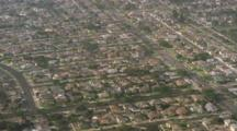 Aerial,Suburban Houses, Los Angeles