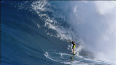 "Big Wave Tow Surfing At ""Jaws"" Maui.Hawaii"