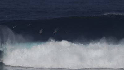 Jaws - big wave surfing- huge wave- wipeout