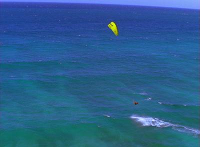 Aerial Kiteboard Stock Footage