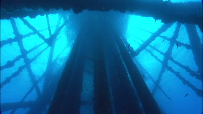 Off-shore Oil Rig Stock Footage