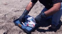 Necropsy Of Common Dolphin On Peru Coast, Tissue Sampling