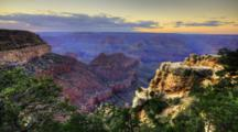 4k Ultrahd A Timelapse Of Sunrise At The Grand Canyon
