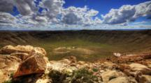 4k Ultrahd A Timelapse At Meteor Crater In Arizona