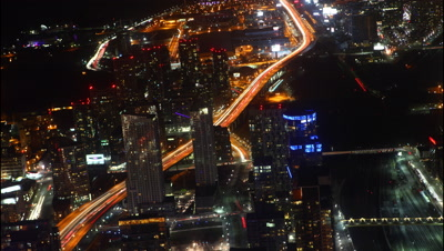 4K UltraHD A timelapse aerial view of Toronto at night