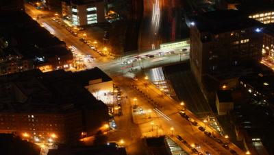 4K UltraHD A timelapse view of Boston at night