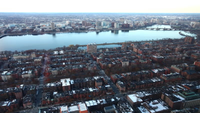 4K UltraHD A timelapse view of a Boston neighborhood