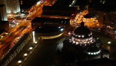 4K UltraHD Timelapse view of Boston at night