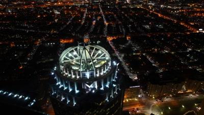4K UltraHD A timelapse of the Boston Skyline at night