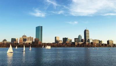 4K UltraHD View of Boston city center