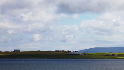 4K UltraHD View across the Loch of Harray, Orkney, Scotland