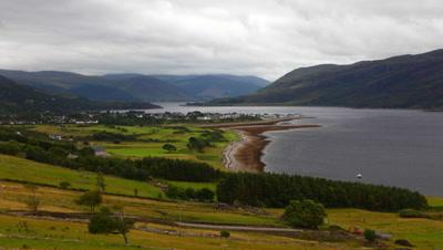 4K UltraHD Timelapse overlooking Ullapool in Scotland