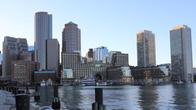 4K UltraHD Timelapse of the Boston city center